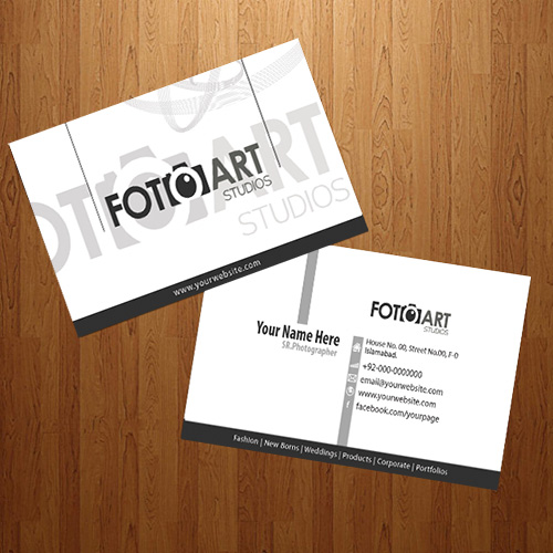 Arfa technologies a design house lahore pakistan business card foto art studio business card design reheart Images